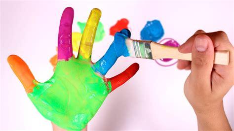imagenes de uñas pintadas manos los colores pintar la mano de colores aprender jugando