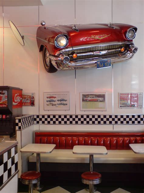 American Diner Decorations by 1950 American Diner