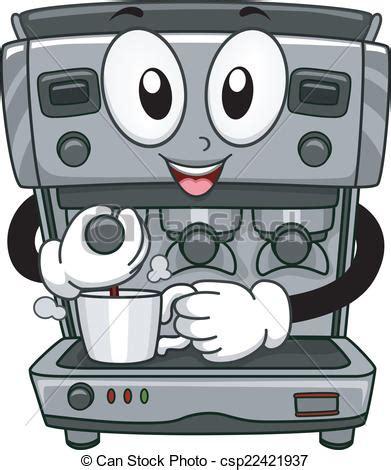 Machine à Café 72 by Vecteurs De Machine Caf 233 Mascotte Mascotte