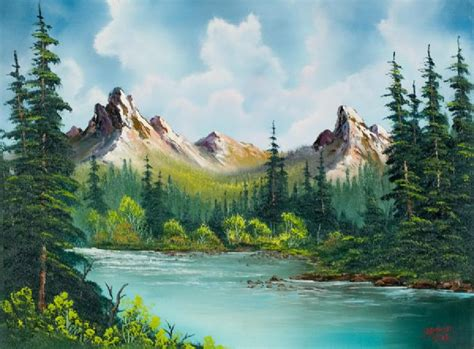 bob ross style paintings for sale bob ross peaks river paintings for sale bob ross