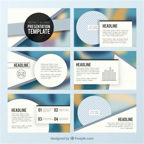 presentation psd template business presentation with circles vector free