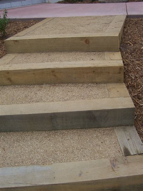 Landscape Timbers Steps The 2 Minute Gardener Photo Landscape Timber Stairs