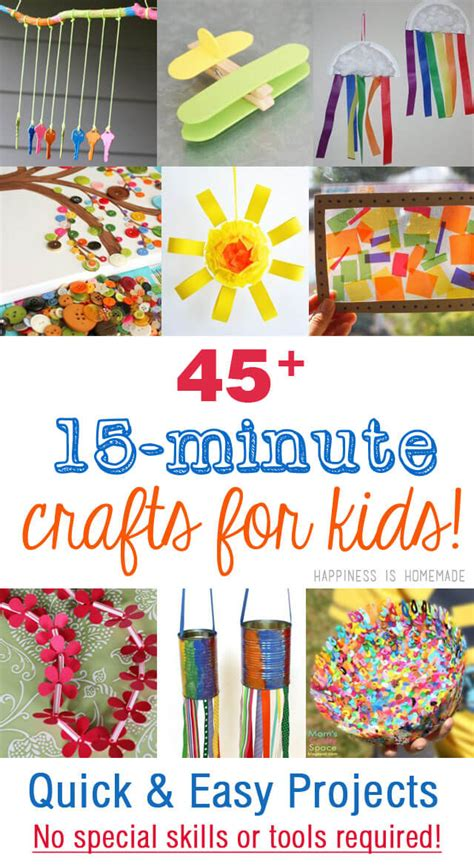 easy kid crafts 45 easy crafts that anyone can make