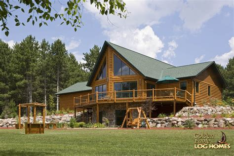golden home golden eagle log and timber homes log home cabin pictures photos custom eagle prow 4