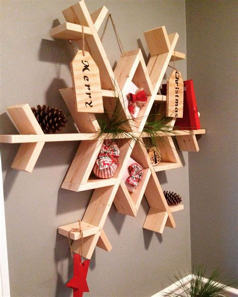 snow  diy wooden snowflake shelf hometalk
