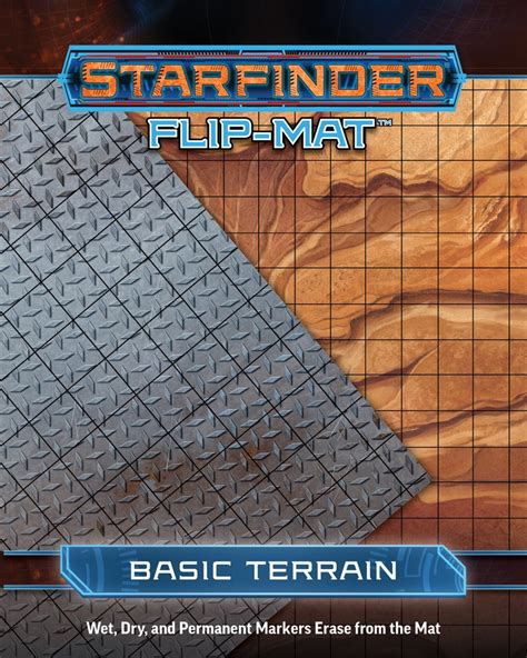starfinder flip mat starship books paizo starfinder flip mat basic terrain
