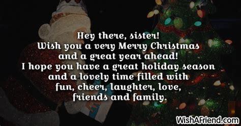 hey  sister    christmas message  sister