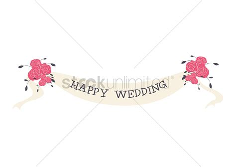 Wedding Banner Eps by Happy Wedding Banner Vector Image 1330597 Stockunlimited