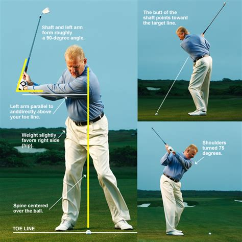 arm swing golf the no backswing swing details golf com