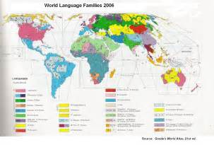 Language Map Of The World by Preview
