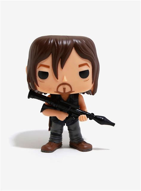 Funko Pop The Walking Daryl Dixon With Rocket Launcher Figure funko pop the walking dead daryl dixon rocket launcher vinyl figure boxlunch