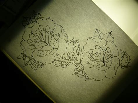 tattoo of roses on side traditional bobbyrotten