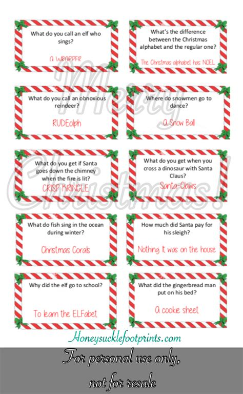 printable christmas joke cards free printable christmas jokes for elf on the shelf