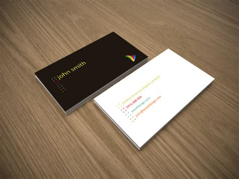 minimalist business card template psd free minimal business card template crazyleaf design