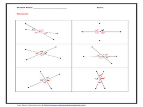 Vertical Angles Worksheet by Vertical Angles Worksheet Worksheet For 9th 12th Grade