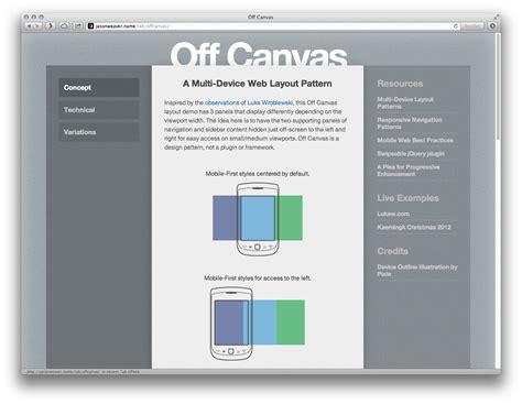 javascript canvas layout off canvas responsive design art supplies blog