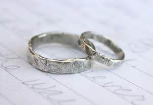 silver wedding rings for recycled silver wedding band ring set custom by