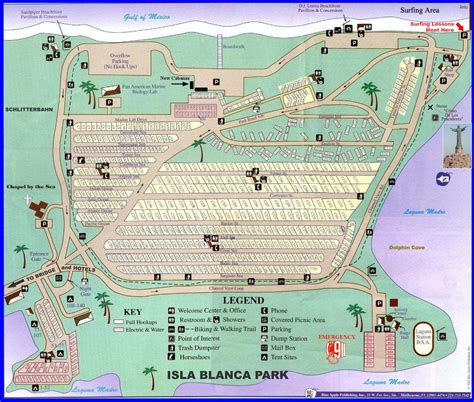 south texas rv parks map isla blanca park map isla blanca park mappery
