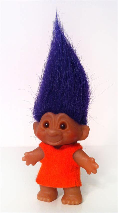 vintage dam troll doll purple hair