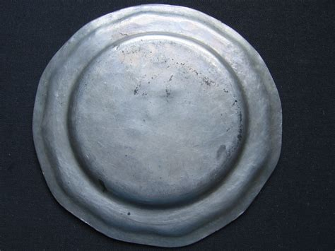 american pewter plate  eagle touch mark marked gr