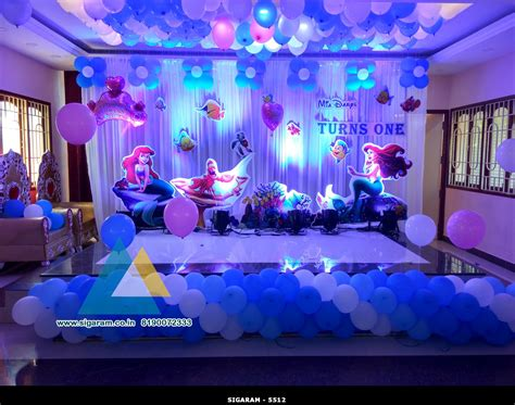 theme decoration little mermaid themed birthday decoration celebration