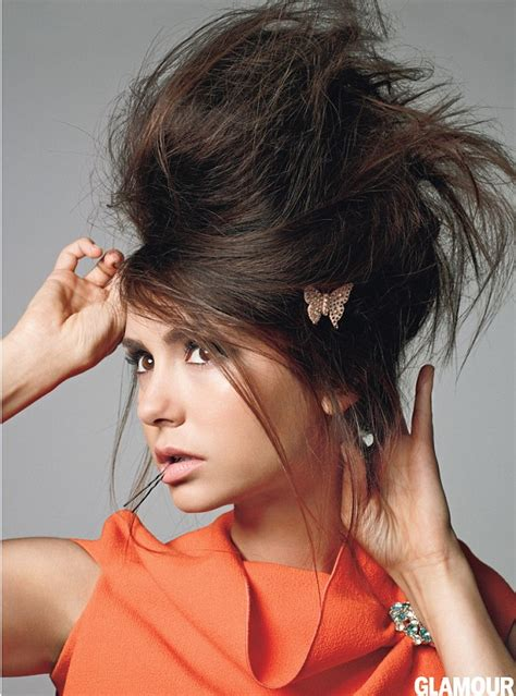 girl jock hairstyles nina dobrev looks far from her tomboy roots as she models