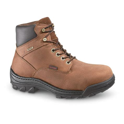 mens boots canada s wolverine 174 waterproof 6 quot durbin work boots brown