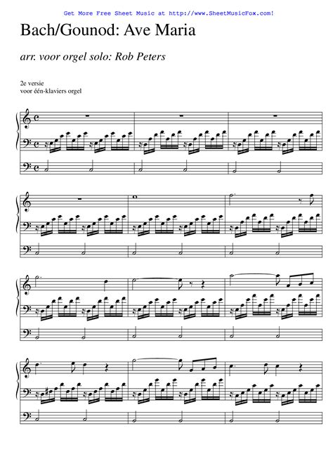 free printable sheet music ave maria free sheet music for ave maria gounod charles by