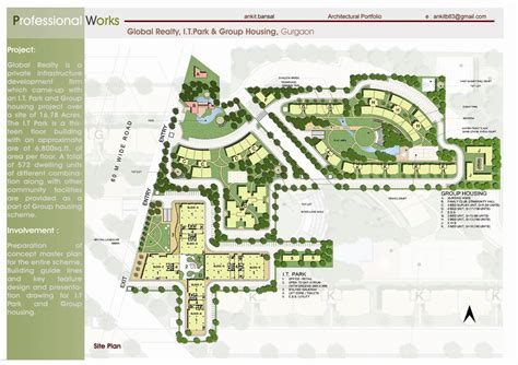 master plan housing i t park group housing ankit bansal archinect