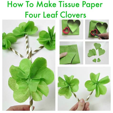 How Can You Make Paper Look - tissue paper four leaf clovers