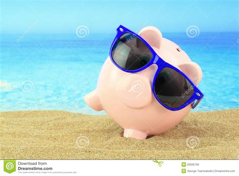 summer bank summer piggy bank royalty free stock images image 26326759