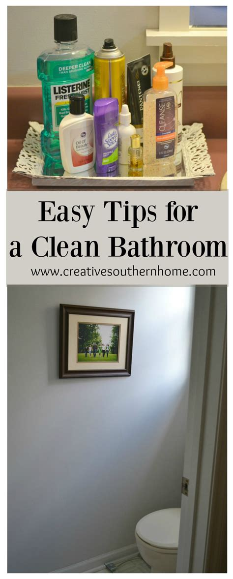 easy tips for a clean bathroom