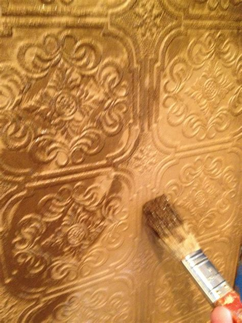 brush up on paintable wallpaper for a posh look garage sales r us painting your paintable wallpaper