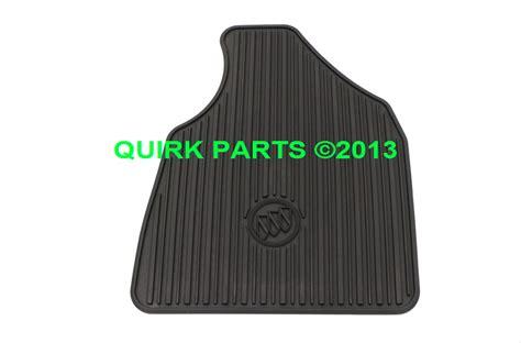 2008 2014 buick enclave front black rubber floor mats oem