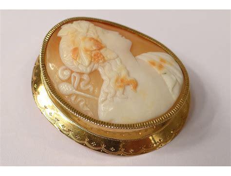 broche bijou 233 e or massif 18 carats portrait femme antique xix 232 me