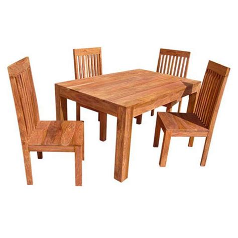 assam sheesham dining table with 4 chairs homewares