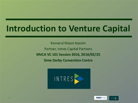 Introduction Letter To Venture Capitalist Introduction To Venture Capital Mvca Event 25 Feb 2016