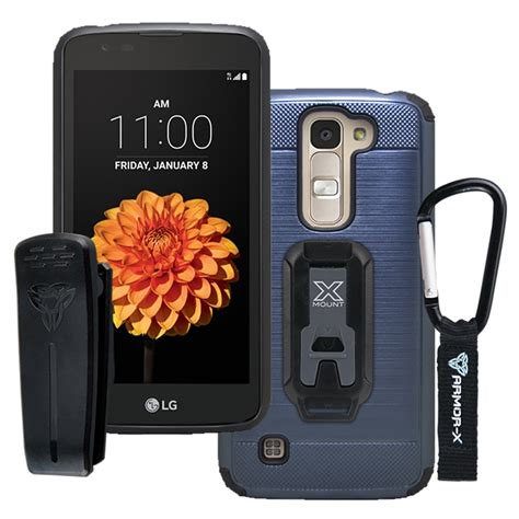 LG Q7 X210G protective case with belt clip and carabiner