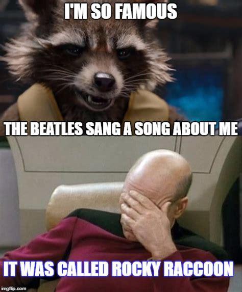 Meme Generator Raccoon - rocky raccoon went into his room only to find gideon s