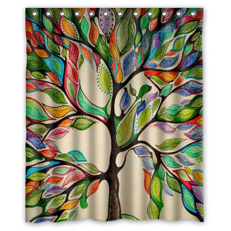 tree of life curtains creative polyester waterproof shower curtain tree of life