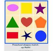 Preschool Math Shape Match Up  Mummyology