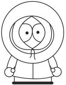 South Park Character Kenny Coloring Page  H &amp M Pages sketch template