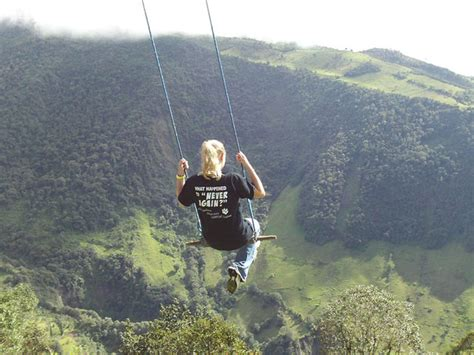 The Swing At The End Of The World Ecuador swing at the end of the world tododesign by arq4design