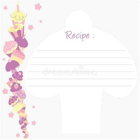 Cupcake Recipe Card Template by Recipe Template Stock Vector Illustration Of Brochure