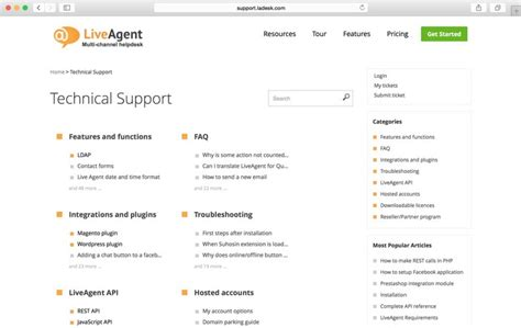 knowledge base document template knowledge base liveagent