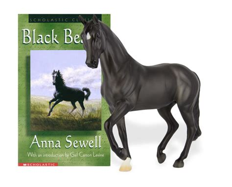 horses and books black model and book set