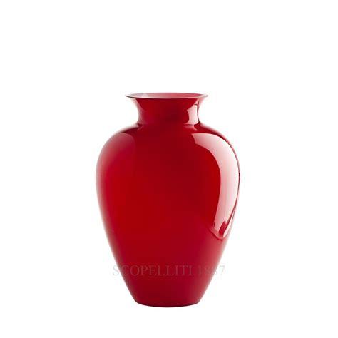 vaso rosso vaso labuan rosso 706 63 venini scopelliti 1887
