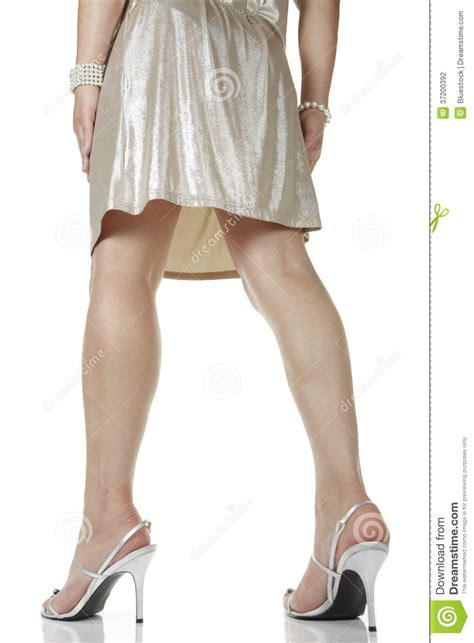 Would You Wear Careys High Heels by Wearing Dress And High Heels Stock Photo