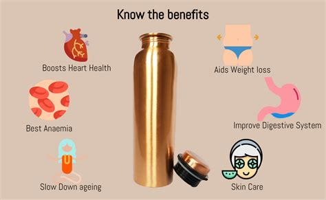 100 Copper Bottle by Copper 1 Litre Water Bottle For Ayurvedic Health Benefits