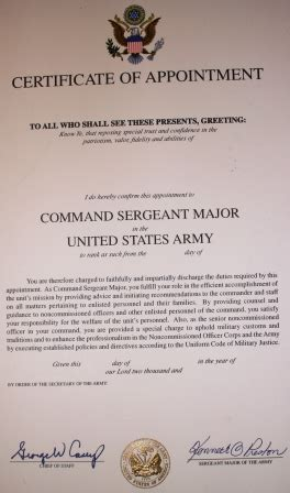 army promotion certificate template officer promotion certificate template 28 images